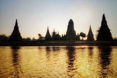 Ayutthaya sunset (leewoods106) Tags: ayutthaya thailand asia fareast blue sunset unescoworldheritage beautifullandscapes beautifulplaces ancientmonument ancient mustseeplaces chaophrayariver water river stupa