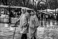 Dior? Givenchy? Gaultier? Saint Laurent?... (vedebe) Tags: noiretblanc netb nb bw monochrome rue street ville city urbain urban humain human homme people pluie provence
