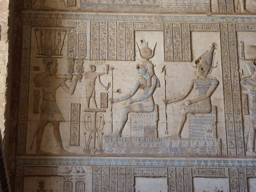 Ptolemy before Isis & Osiris, Dendera Temple