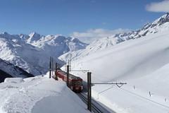 MGB - Oberalp Pass (Kecko) Tags: 2018 kecko switzerland swiss schweiz suisse svizzera innerschweiz zentralschweiz uri oberalp pass oberalppass schöni matterhorngotthardbahn railway railroad mgb eisenbahn bahn zug train rack zahnstange gleis track schnee snow winter berge mountain swissphoto geotagged geo:lat=46645250 geo:lon=8625260