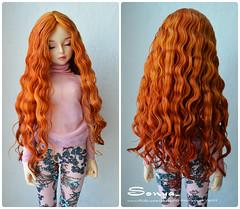 """Wig """"Isabel"""" (sonya_wig) Tags: fairytreewig bjdwig minifeewig bjd bjdminifee minifeemirwen handmade doll bjddoll dollphoto fairyland fairylandminifee minifee mirwen coloringhair bjdphotography wig"""
