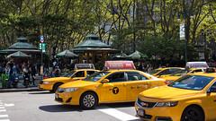 New York Taxi Cabs at Bryant Park, New York City (OnTheRoadAgainBlog) Tags: newyork newyorkcity nyc usa america taxi cab taxicab manhattan bryantpark canon 700d 24mm