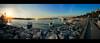 Wider view (Melissa Maples) Tags: istanbul turkey türkiye asia 土耳其 apple iphone iphone6 cameraphone harem üsküdar boğaz sea bosphorus water widescreen letterbox panoramic panorama evening dusk sundown sunset sunflare lensflare flare autumn harbour marina boats strait
