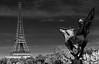 Yes, I'm hearing voices too (.KiLTRo.) Tags: paris îledefrance france fr kiltro landscape cityscape paisaje ciudad city tower eiffel eiffeltower statue birhakeim lafrancerenaissante