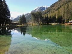 Green Waters Meditation (W@nderluster) Tags: gressoney water travel lake aosta meditation reflection riflesso green italia exploring holiday
