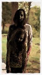 Cartoon looking Mommy & Daughter zombies (schillin128) Tags: zombiechicks scarypics scary zombieshortfilm zombiemakeup deadnightmare zombies zombie