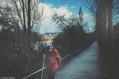 Walk... (hobbit68) Tags: old women frau weg sonne baum tree frankfurt sky wolken himmel clouds ☁️