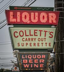 collett's carry out superette (alphabet soup studio / lenore locken) Tags: ©lenorelocken signgeeks kentucky