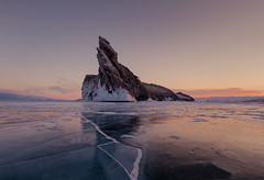 The Dragon's Tooth (Andrew G Robertson) Tags: lake baikal siberia russia ice rock sunrise sunset olkhon island cape ogoy