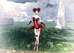 LuceMia - Swank Event (MISS V♛ ITALY 2015 ♛ 4th runner up MVW 2015) Tags: swankevent sl new event glitter poses irrisistible creations mesh outfit hair shoes fantasy dolly beauty red passion models lucemia