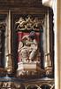 Liège, Wallonie, église St.-Jacques, west wall, apostle (groenling) Tags: luik liège belgië belgique wallonie wallonië be églisestjacques church stjohn westwall muur statue beeld stone carving stonecarving steen beeldhouwwerk pierre apostle apostel apôtre book boek livre hatchet