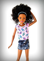Babysitters Skipper (Deejay Bafaroy) Tags: barbie skipper babysitters mattel doll puppe black pink rosa portrait porträt