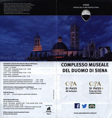 Complesso Museale del Duomo di Siena; 2017_1, Toscana, Italy (World Travel Library - collectorism) Tags: duomodisiena duomo dome kirche church templom cathedral siena 2017 museen museum múzeum historical architecture building toscana tuscany italy italia travelbrochurefrontcover frontcover brochure world travel library center worldtravellib holidays tourism trip vacation papers prospekt catalogue katalog photos photo photography picture image collectible collectors collection sammlung recueil collezione assortimento colección ads online gallery galeria documents broschyr esite catálogo folheto folleto брошюра broşür