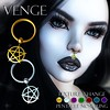 VENGE - Original Mesh - Pentacle Nose Ring_Ad (Vixn Dagger - Vengeful Threads / VENGE) Tags: venge vengefulthreads pagan occult dark witch wicca pentacle witchcraft coven goth gothic vampire roleplay