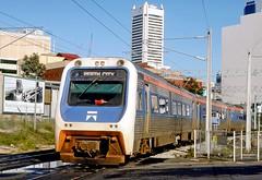 "Westrail ""Australind"" arriving at Perth (Mega Anorak) Tags: railroad railway train diesel railcar westrail perthwa classadp classadq comeng"