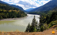 Fraser River Canyon from the Rocky Mountaineer, British Columbia, Canada (Black Diamond Images) Tags: rockymountaineer rockymountaineerroute fraserriver fraserrivervalley fraserrivercanyon fraserrivergorge britishcolumbia canada canadianrockies vancouvertokamloops canadiantourism armstronggroupltd goldleaf goldleafdomecoach train railroad railway travelphotography landscapes