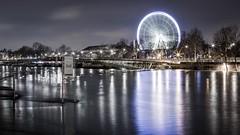 Crue_Seine-5 (Justin.S.) Tags: bigwheel bridge cloud crue facebook feteforaine flickr flood france granderoue iledefrance instagram longexposure nuage paris pont poselongue publiee seine