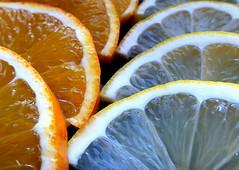 Slices (Xell G) Tags: macro fruit macromondays orange lemon food slices color