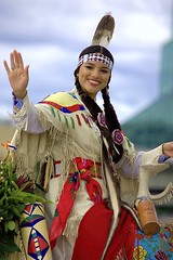 Native American Indian (swong95765) Tags: indian american outfit woman female lady ride costume waving smile pretty