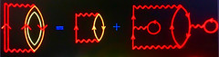 Some Fun Diagrams 🎡 (Chic Bee) Tags: 3inches abstract ethereal feynmandiagrams fx guidebook imagepostprocessing macro macromondays myfavouriteread physics problems richarddmattuck richardfeynman solveproblems surreal themanybodyproblem