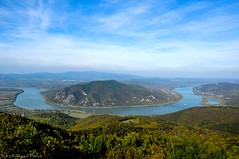 """Danube Bend by Pszili - View from the observation post called Prédikálószék (that means """"preaching chair""""). Pilis Mountains, Hungary."""