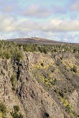Pauahi Crater with Mauna Ulu on the Horizion (wyojones) Tags: hawaii hawaiivolcanoesnationalpark hawaiian maunaulu pauahicrater cindercone cinder cliffs tephra volcano pitcrater wyojones np