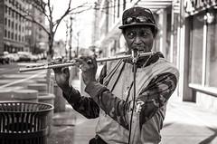Street Musician (laureanophoto) Tags: denversreetphotos2018 musician talent bw blackwhite