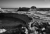 Sutro Baths (naturalturn) Tags: abandoned beach ocean pacific pacificocean water ruins infrared blackwhite blackandwhite sutrobaths sutro baths pointlobos sanfrancisco california usa image:rating=5 image:id=199379