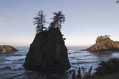 Let Me (Gavin Minera) Tags: nature rock sea seascape trees sky water ocean shore beach blue outdoor
