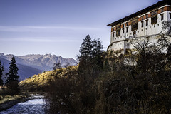 The beautiful Dzong in Paro, Bhutan