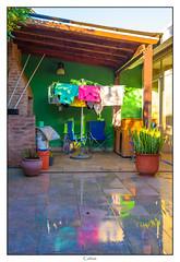 Quincho (Carlos E Cortés Parra) Tags: barbecue yard colors clothes rain