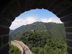 China (Beijing) The Great Wall, one of the World Wonders (ustung) Tags: china beijing forest greatwall landscape tree sky wonders worldwonder