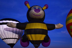 Bee-ing There (oybay©) Tags: joelly joellythebee thelittlebee thelittlebees sunset clouds vast sky open minimal minimalism phoenixballoonfestival phoenix balloon festival chickfila hotairballoon hotair hot air arizona suncitywest bluesky redballoon color colors colorful bounty winter balloons cactus cacti enmasse vehicle aircraft outdoor people skyline city shadow colour