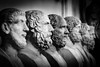 The Usual suspects (King Grecko) Tags: 5dmk3 5dmkiii ancient architecture bw corinthian doric historic roman sky statue travel traveldestinations vaticancity black blackandwhite building canon canoneos5dmk3 contrast detail dramatic europe heads history italy lightroom remains rome sculpture texture vatican white