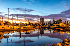 Blue hour (dmunro100) Tags: dawn daybreak sunrise adelaide glenelg southaustralia summer longexposure bluehour river patawalonga still glass mirror