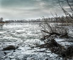 Winter landscape (peterpj) Tags: photoshop stacked lightroom colorefexpro a6300 sony sigma 3014 bug rzeka rivier ijs zima winter