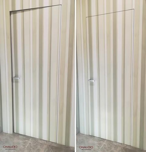 Porta rasomuro pitturata in tinta col muro