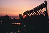 Peter Iredale Wreck (PDX Bailey) Tags: sunset sky coast oregon beach wreck ship shipwreck iredale peter hammond pink yellow orange analog slide camera photography photo reflection evening dusk