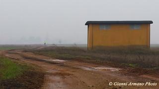 In bicicletta nella nebbia #Esplora#