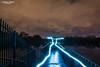 Light trails at Gorton Reservoir (andyp178) Tags: lighttrails light led trail night longexposure reservoir lake water cloud reflection railings nikon d7100 tokina sky sundaylights