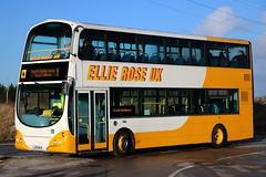 Ellie Rose Travel UK, Saltend, Hull LJ03MJU in the low afternoon sun on Somerden Rd, Kingston International Business Park, Hull. (Gobbiner) Tags: b7tl ellieroseuk hull wrightbus lj03mju eclipsegemini volvo borderbus vlw113 arrivalondon
