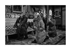 Prayer (Jan Dobrovsky) Tags: carpathians leicaq winter church people reallife rural indoor countryside monochrome prayer blackandwhite action ukraine village countrylife document