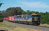 Small S (Henry's Railway Gallery) Tags: g515 b76 g512 gclass bclass emd diesel clyde cfcla chicagofreightleasingaustralia qubelogistics freighttrain containertrain 9375 tocumwal wunghnu