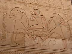 Pharoah between Thoth & Horus, Karnak (Aidan McRae Thomson) Tags: karnak temple luxor egypt ancient egyptian relief carving