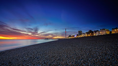 Geometry (SpectrumLight) Tags: beach pebble night landscape seascape geometry england brighton sunset nightfall scenic flickr light sonya7ii sony fe1635mmf4zaoss wideangle ilce7m2 bluehour sky skyline town