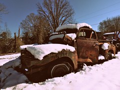 dis·re·pair (Dave* Seven One) Tags: dis·re·pair disrepair dispair forgotten abandoned junk salvage scrap broken used dead rusty rust rot rotted neglected neglect fomoco ford f1 pickup pickuptruck art rustyart weathered unlimitedphotos