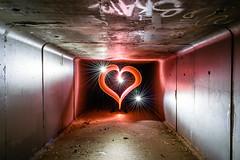 Tunnel of Love (stephenk1977) Tags: australia queensland qld brisbane nikon d3300 light painting art heart valentines day starburst tunnel
