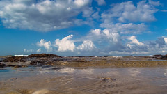 Flat Rock Beach (112echo) Tags: flat rock beach sand surf water swimming sky surfing sea ocean seascapes waves rockpools clouds
