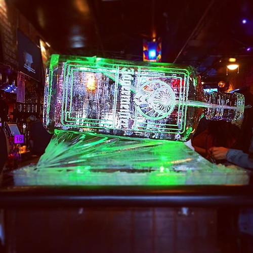 @jagermeister #iceluge to help celebrate @antonesnightclub #birthday tonight! #fullspectrumice #thinkoutsidetheblocks #brrriliant - Full Spectrum Ice Sculpture