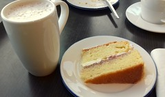 Victoria Sponge Cake & Hot Chocolate (Tony Worrall) Tags: add tag ©2018tonyworrall images photos photograff things uk england food foodie grub eat eaten taste tasty cook cooked iatethis foodporn foodpictures picturesoffood dish dishes menu plate plated made ingrediants nice flavour foodophile x yummy make tasted meal nutritional freshtaste foodstuff cuisine nourishment nutriments provisions ration refreshment store sustenance fare foodstuffs meals snacks bites chow cookery diet eatable fodder victoriasponge cake drink cup snack bake